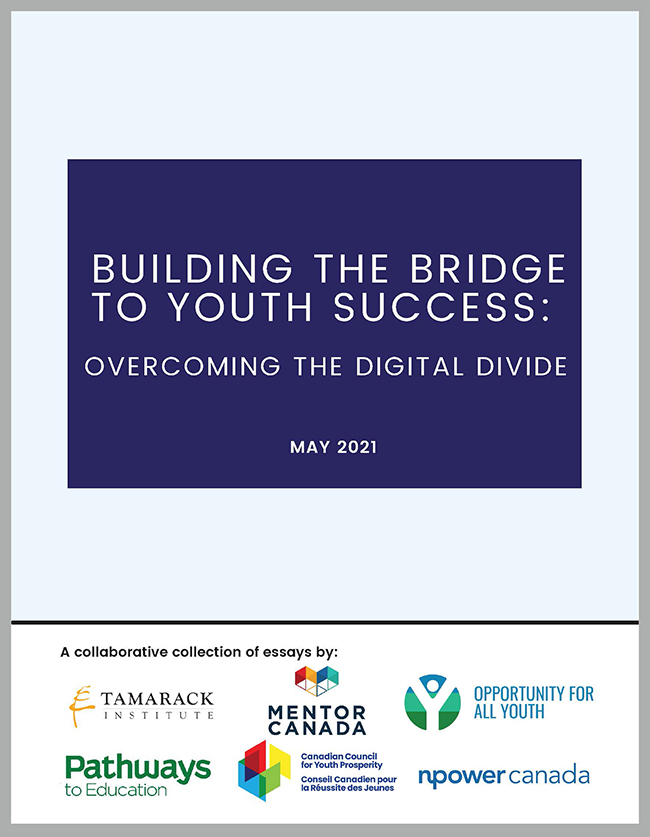 Cover page for Building the Bridge to Youth Success_Overcoming Digital Divide